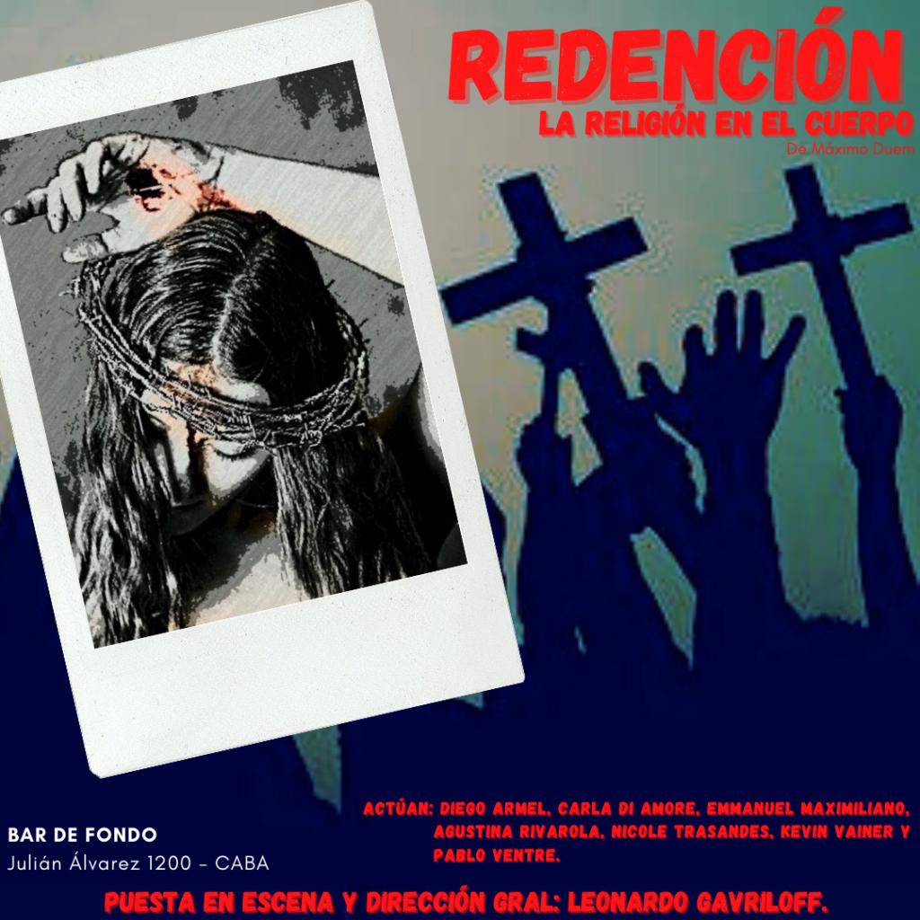 Flyer Redención- La religión en el cuerpo